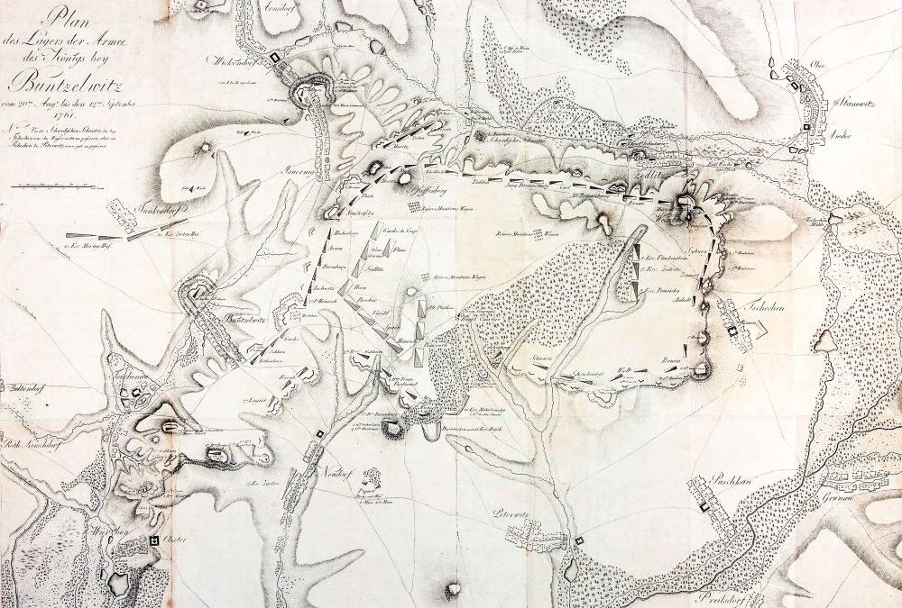 BOLESŁAWICE. Plan bitwy pod Bolesławicami (20 VIII – 12 IX 1761); anonim, ...