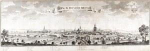 ELBLĄG. Panorama miasta, według rys. Friedricha Bernharda Wernera, wyd. ...