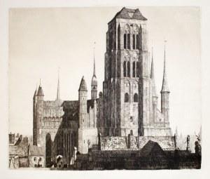 GDAŃSK. Bazylika Mariacka, rys. i lit. Berthold Hellingrath, Gdańsk, ok. 1930; ...