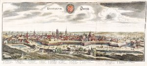 GDAŃSK. Panorama miasta z Biskupiej Górki (od południowego zachodu), kopia ...
