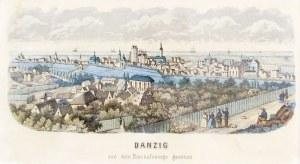 GDAŃSK. Panorama miasta z Biskupiej Górki (od południowego zachodu), anonim, ...