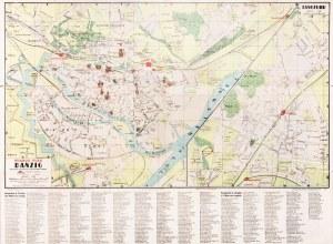 GDAŃSK. Plan Gdańska w 1940 r., lit. i odbił Pharus-Gutenberg, wyd. ...