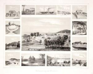 MIĘDZYZDROJE. Widoki miasta i okolic w 14 sekcjach, lit. Sukkert, druk. L. ...