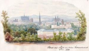 NYSA. Panorama miasta, w dole odręcznie data: 27 Juli 1879; pochodzą ze ...
