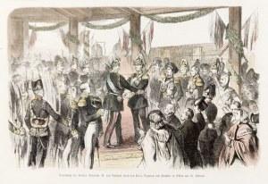 OŁAWA. Spotkanie Aleksandra II z cesarzem Wilhelmem, pochodzi z: Illustrirte ...