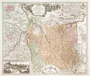 CIESZYN. Mapa Księstwa Cieszyńskiego autorstwa Matthäusa Seuttera, ryt. Tobias ...