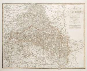 GALICJA. Mapa Galicji z utraconą przez Austrię tzw. Zachodnią Galicją, która ...