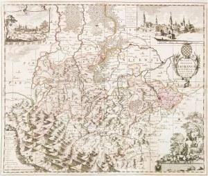JAWOR. Mapa Księstwa Jaworskiego, oprac. Friedrich Kühn, wyd. Petrus Schenk, ...