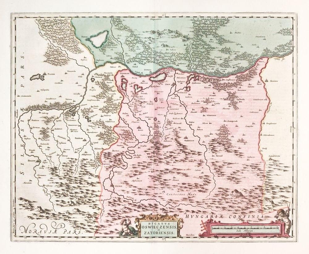 Oswiecim Zator Mapa Ksiestwa Oswiecimsko Zatorskiego