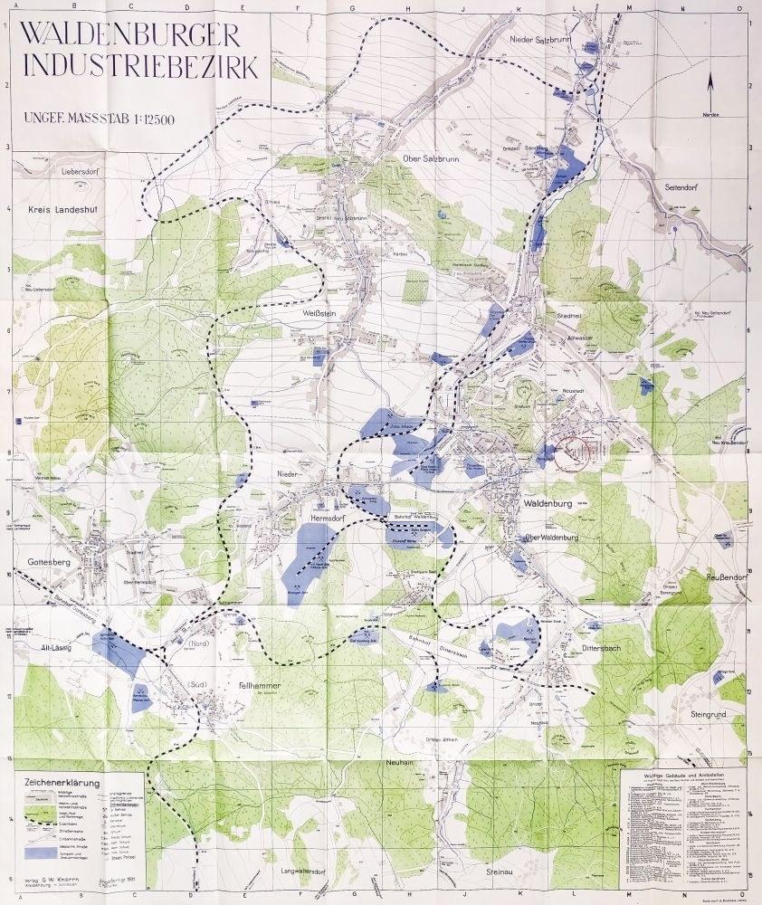 Walbrzych Mapa Walbrzyskiego Okregu Przemyslowego Oprac Erich
