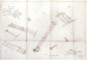 NIEDARZYNO k. Bytowa. Plany przekopu rzeki w Niedarzynie, X 1856; oprac. ...