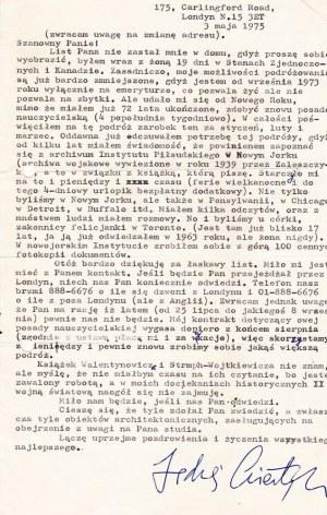 GIERTYCH, JĘDRZEJ. Listy Jędrzeja Giertycha do Krzysztofa Sałacińskiego; na ...