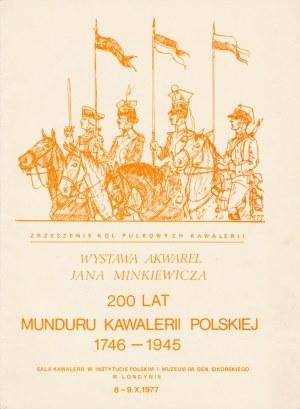 LONDYN. Katalog informujący o wystawie akwarel autorstwa Jana Minkiewicza, ...