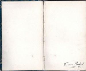 WOLSZTYN. Sztambuch należący do Emmy Peschel, w latach 1898-1904 zamieszkującej ...