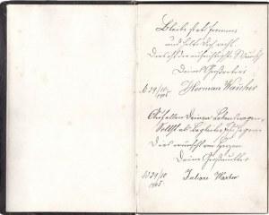 WOLSZTYN. Sztambuch należący do Emmy Peschel, wnuczki Hermanna i Julii ...