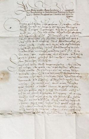 JERZY FRYDERYK HOHENZOLLERN. List Jerzego Fryderyka, od 1578 r. opiekuna ...