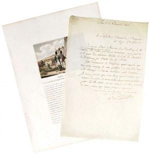 POZNAŃ, KWATERA GŁÓWNA NAPOLEONA. List Marszałka Francji Louisa-Alexandre'a ...