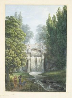SOFIÓWKA (Zofiówka). Widok na świątynię Kanopa; akwarela, tusz, ołówek; ...