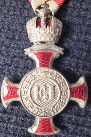 AUSTRIA (AUSTRO-WĘGRY). Srebrny Krzyż Zasługi Cywilnej z Koroną (Silbernes ...