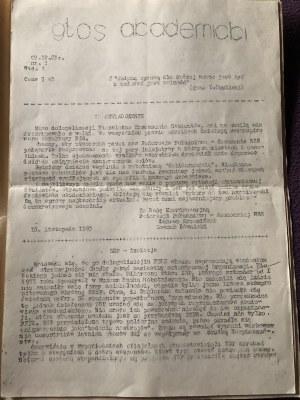 Głos Akademicki, nr 3, wyd. A, 7 grudnia 1983