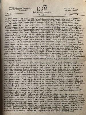 CDN, Głos Wolnego, Robotnika, nr 55, wyd. B, 13 grudnia 1983