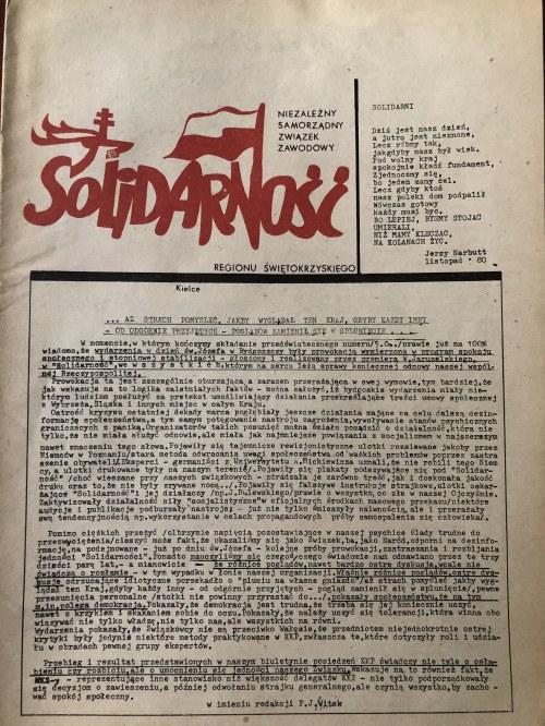 Biuletyn Regionu Świętokrzyskiego NSZZ SOLIDARNOŚĆ, Kielce, 7 kwietnia 1981