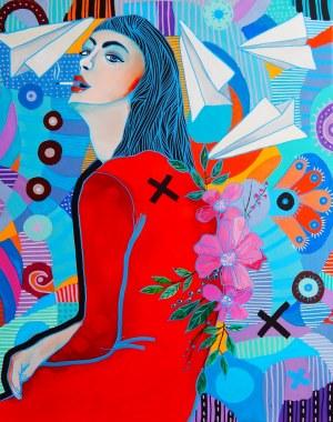 Marcin Painta, Ona i czerwona sukienka, 2019
