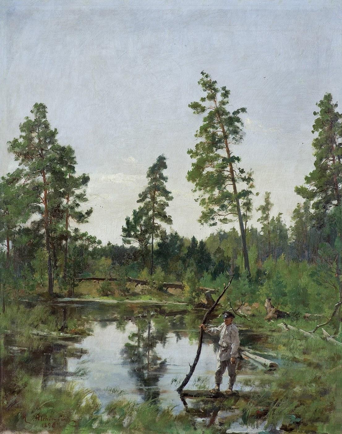 Alchimowicz Kazimierz, CHŁOPIEC NA  BAGNACH, 1896