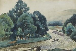 Fałat Julian, WEZBRANA RZEKA, MOTYW Z BYSTREJ, 1918