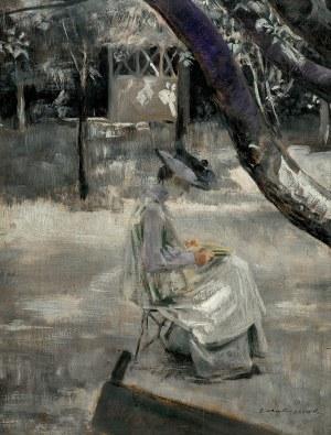Malczewski Jacek, ZACZYTANA. PORTRET JULII, CÓRKI, OK. 1905