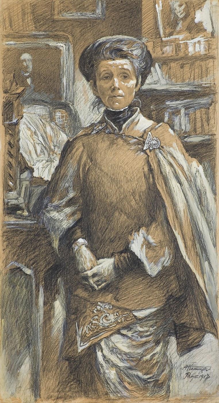 Kamieński Antoni, PORTRET OLGI BOZNAŃSKIEJ, 1917
