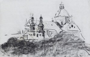Wyczółkowski Leon, WIDOK NA KRAKOWSKIE KOŚCIOŁY, 1919