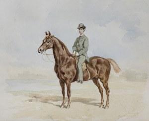 Kossak Juliusz, KONNY PORTRET MŁODEGO MĘŻCZYZNY, 1876
