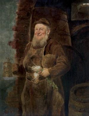 Grützner Eduard von, MNICH Z PIWEM I PRZEKĄSKAMI