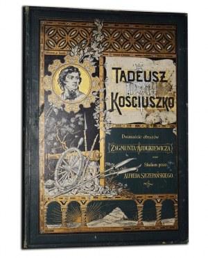 [AJDUKIEWICZ ZYGMUNT] - TADEUSZ KOŚCIUSZKO. Dwanaście obrazów...[teka ilustracji]. Studium o Kościuszce - Alfred Szczepański.
