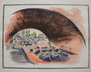 Michel Adlen (1898-1980), Vue sous le Pont St Michel