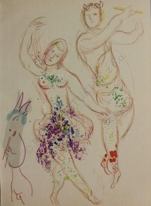 "Marc Chagall (1887-1985), Dafne i Chloe(z ""Le Ballet"", 1969, Mourlot #581)"