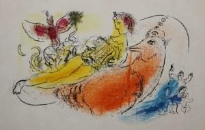 "Marc Chagall (1887-1985), Akordeonista(na odwrociu: Para, ""Derrière le Mirroir"" no 99-100, 1957, Mourlot #204)"