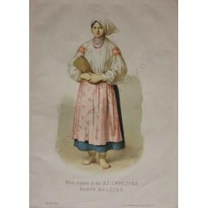 Wojciech Gerson wg (1831-1901), Młoda mężatka ze wsi Ozieryczyna. Ahapa Mauczan[Zakład litograficzny Władysława Główczewskiego(1843-1905)]