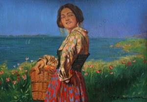 Feliks Michał Wygrzywalski (1875-1944), Włoszka z koszem pomarańczy