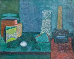 Jan Marian KOŚCIAŁKOWSKI (1914-1977), Martwa natura z jajkiem
