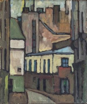 Barbara SIEROSZEWSKA-BOROWSKA (ur. 1935), Motyw z Paryża, 1966