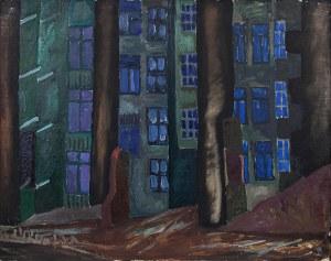 Bolesław OMIECIŃSKI (1925-2008), Mury warszawskie nocą