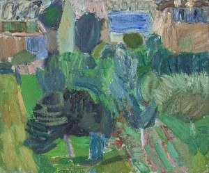Anna KURZĄTKOWSKA (ur. 1936), Pejzaż z drzewami, 1962