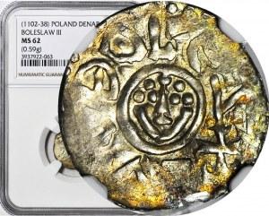 RR-, Bolesław III Krzywousty, denar wrocławski przed 1107, menniczy