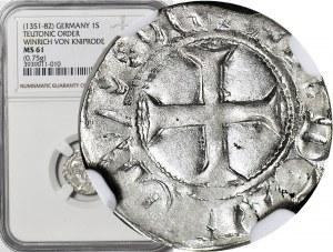 Zakon Krzyżacki, Winrych von Kniprode 1351-1382, Kwartnik, menniczy, R1