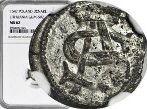 RRR-, Zygmunt II August, Obol 1547, T.80, R8