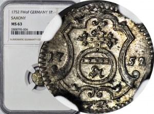 August III Sas, Halerz 1752 FwoF, menniczy