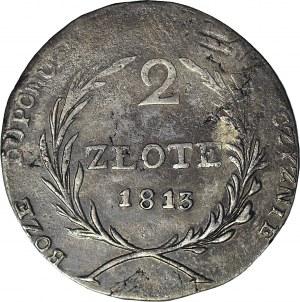 R-, Oblężenie Zamościa, 2 złote 1813