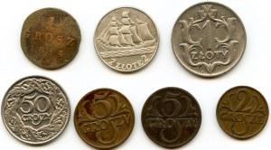Zestaw siedmiu monet